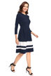 Picture of 3/4 Sleeve Knee length Skater Dress