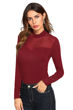 Picture of Full sleeve Mock Neck T-Shirt with Mesh