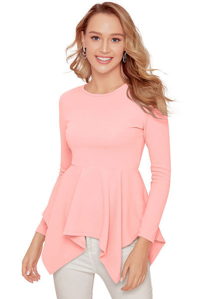 Picture of Full sleeve Round Neck Peplum Top