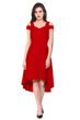 Picture of Cold Sleeve Sweetheart Neck UP Down Midi Dress