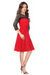 Picture of Lace 3/4 Sleeve Knee length Skater Dress